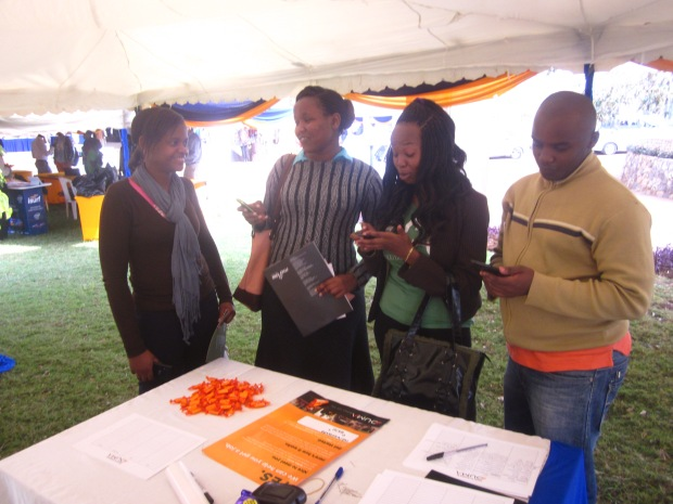 USIU students signing up for the DUMA Job network